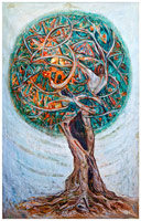 Example of art piece, titled Kristin Entangled.