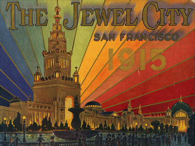 Cover of Souvenir Views of the 1915 Panama-Pacific International Exposition.