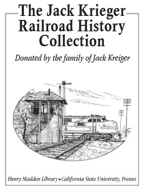 Jack Krieger Railroad History Collection Bookplate