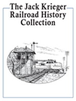 Jack Krieger Railroad History Collection bookplate, featuring a pen-and-ink train at a crossroads.