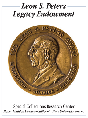Leon S. Peters Legacy Endowment Bookplate