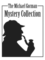 Michael Gorman Mystery Collection bookplate, featuring a classical silhouette of Sherlock Holmes.