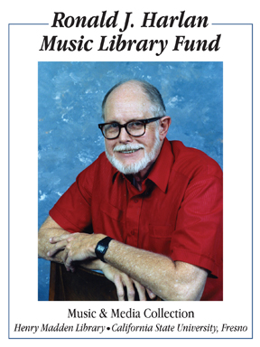 Ronald J. Harlan Music Library Fund Bookplate