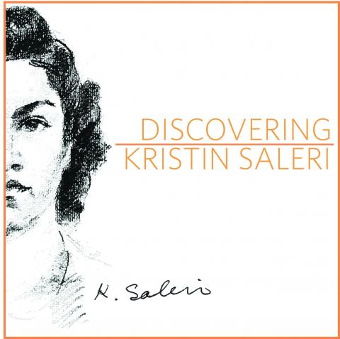 Cover art for Discovering Kristin Saleri Exhibition in 2016.