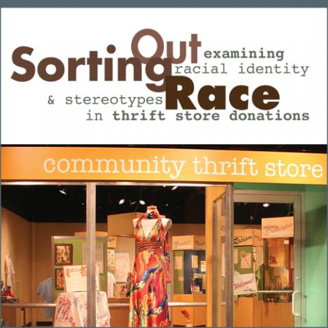 Poster for Sorting Out Race exhibition.