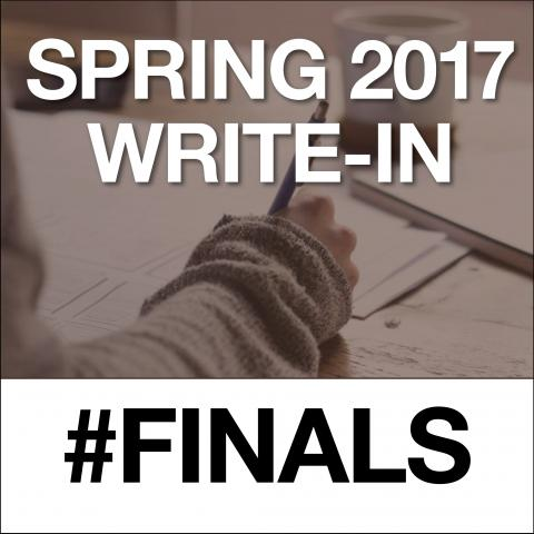 Spring 2007, Write-in, #Finals