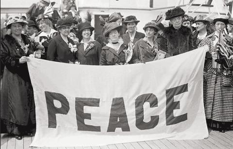 Historic photograph of politically dangerous women