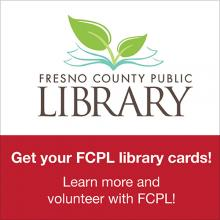 Poster for Fresno County Public Library event.