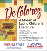 De Colores event time, location, and sponsor information.