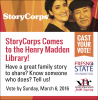 StoryCorp event voting deadline of Sunday, March 6, 2016.
